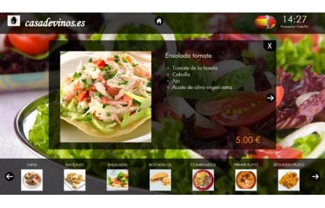 Nuevo software ICartePro para mesas táctiles de bares